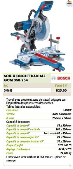 Bosch scie à onglet radiale gcm 350-254
