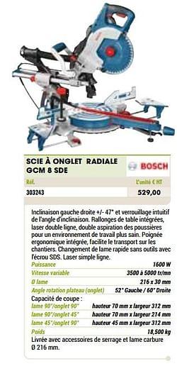 Bosch scie à onglet radiale gcm 8 sde