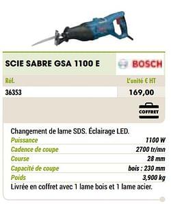 Bosch scie sabre gsa 1100 e