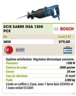 Bosch scie sabre gsa 1300 pce