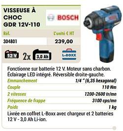 Bosch visseuse à choc gdr 12v-110