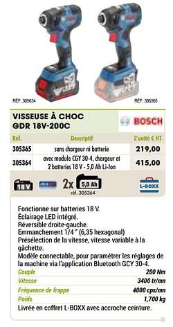 Bosch visseuse à choc gdr 18v-200c