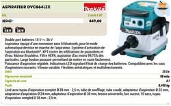 Makita aspirateur dvc864lzx
