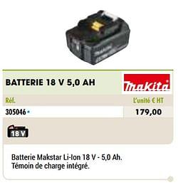 Makita batterie 18 v 5,0 ah