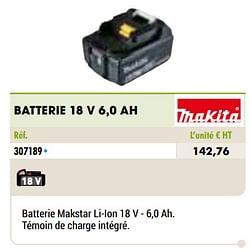 Makita batterie 18 v 6,0 ah