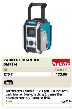 Makita radio de chantier dmr114