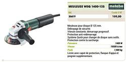Metabo meuleuse weq 1400-125