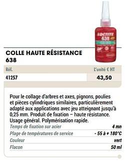 Colle haute résistance 638