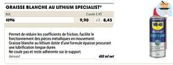 Graisse blanche au lithium specialist