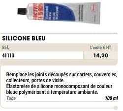 Silicone bleu