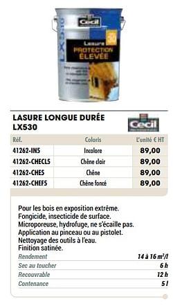 Lasure longue durée lx530