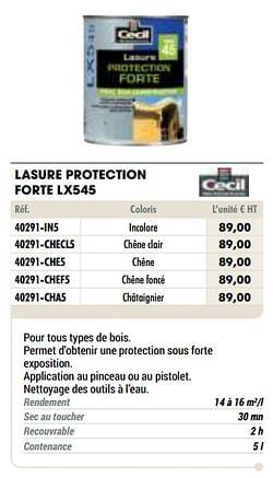 Lasure protection forte lx545