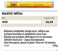 Mastic métal