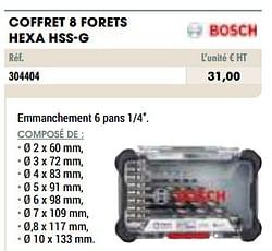 Coffret 8 forets hexa hss-g