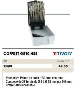 Coffret g510 hss