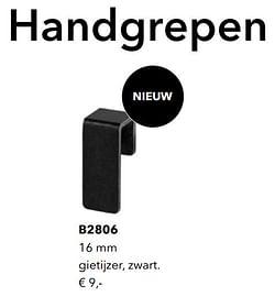 Handgrepen b2806 gietijzer zwart