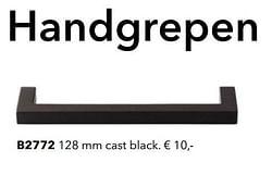 Handgrepen b2772 cast black