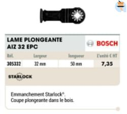 Bosch lame plongeante aiz 32 epc