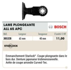 Bosch lame plongeante all 65 apc
