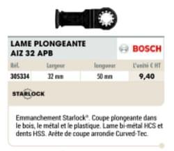Bosch lame plongeante aiz 32 apb
