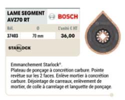 Bosch lame segment avz70 rt