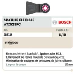 Bosch spatule flexible atz52sfc