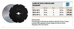 Lame de scie circulaire diamant