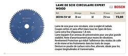 Lame de scie circulaire expert wood
