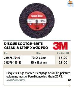 Disque scotch-brite clean + strip xa-zs pro