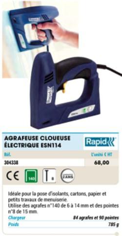 Agrafeuse cloueuse électrique esn114
