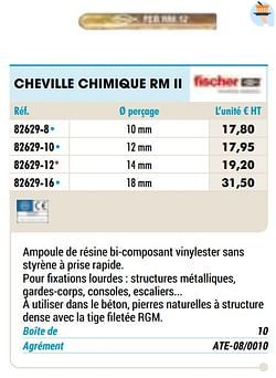 Cheville chimique rm ii