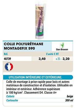 Colle polyuréthane montagefix 590