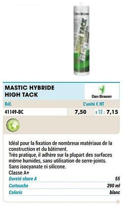 Mastic hybride high tack