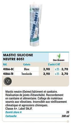Mastic silicone neutre 8051 blanc