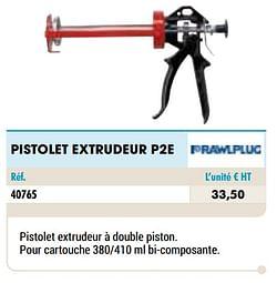 Pistolet extrudeur p2e