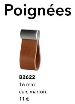 Poignées b2622 cuir, marron