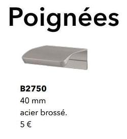 Poignées b2750 acier brossé