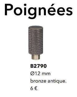 Poignées b2790 bronze antique