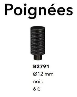 Poignées b2791 noir