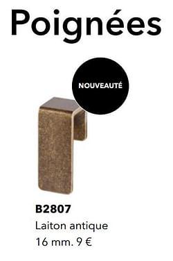 Poignées b2807 laiton antique
