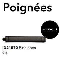 Poignées id21570 push open
