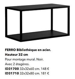 Ferro bibliothèque en acier id31700