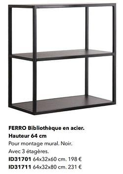 Ferro bibliothèque en acier id31701