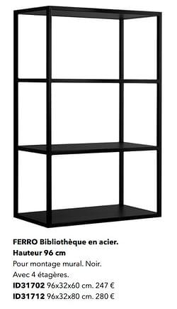 Ferro bibliothèque en acier id31702