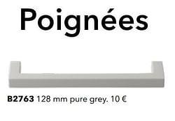 Poignées b2763 pure grey