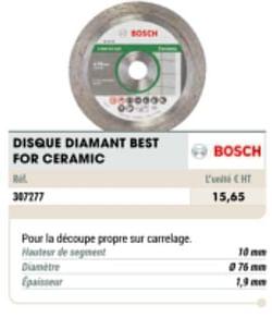Disque diamant best for ceramic