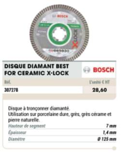 Disque diamant best for ceramic x-lock