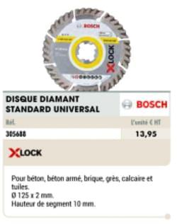 Disque diamant standard universal