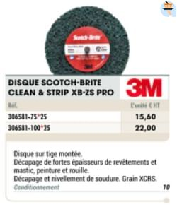 Disque scotch-brite clean + strip xb-zs pro