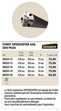 Foret speeduster 646 sds-plus